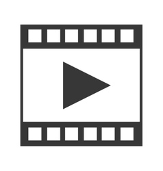 video tape segment with play icon vector image