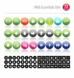 web essentials one vector image