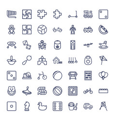 49 toy icons vector