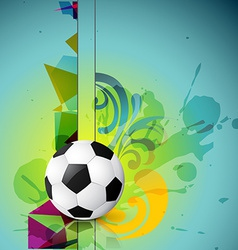abstract football design vector image