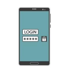 Account login screen vector image