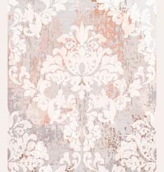 baroque pattern vintage ornamented texture vector image