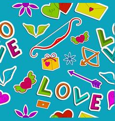 beautiful love seamless pattern vector image