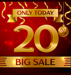 big sale twenty percent for discount vector image