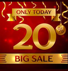 Big sale twenty percent for discount vector