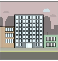 business city architecture vector image