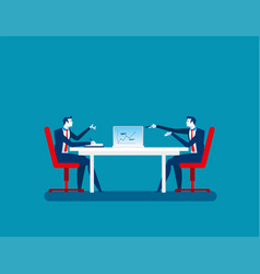 businessman colleagues discuss future plans vector image