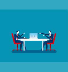 Businessman colleagues discuss future plans vector