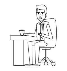 businessman in workplace avatar character icon vector image