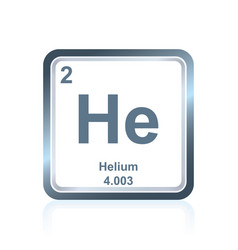 Chemical element helium from the periodic table vector