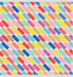 Colorful seamless pattern with rectangle mosaic vector
