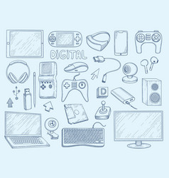 computer devices electronic gadgets tablet vector image