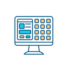 Computer system rgb color icon vector