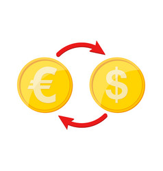 Currency exchange icon vector