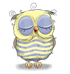 Cute owl isolated on a white background vector