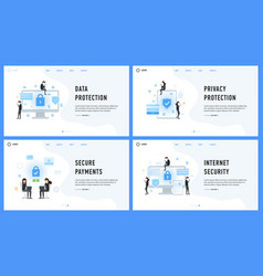 data privacy protection and internet payments vector image