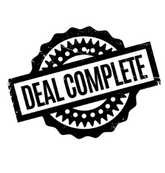Deal Complete rubber stamp vector