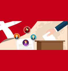 Denmark democracy political process selecting vector
