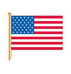 detailed reproduction of the official flag usa vector image