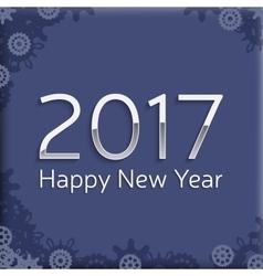 digital happy new year 2017 text design vector image vector image