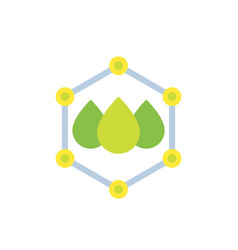 Drops with nano particles flat icon vector