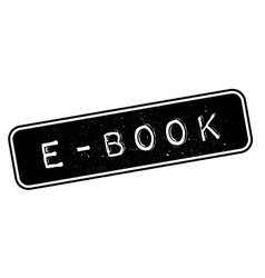 E-Book rubber stamp vector image