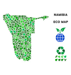 eco green composition namibia map vector image