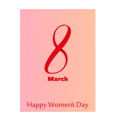 elegant luxury international womens day 8 march vector image