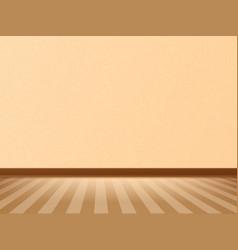 empty room with parquet floor and beige wall vector image