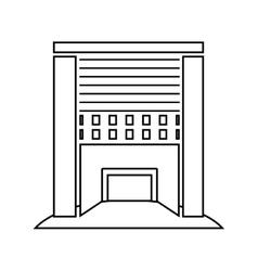 exterior cute building icon vector image