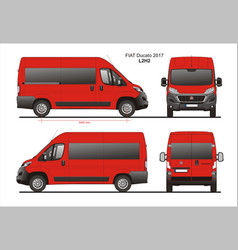 Fiat ducato passenger van l2h2 vector