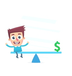 Financial balance vector image