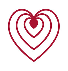 flat color heart icon vector image