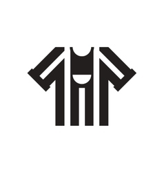 Flat icon in black and white football shirt vector