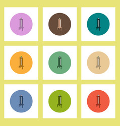 Flat icons halloween set of syringe and blood vector