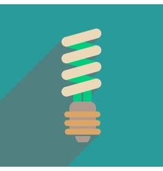 Flat web icon with long shadow eco light bulb vector