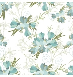 Floral crocus retro vintage background vector image