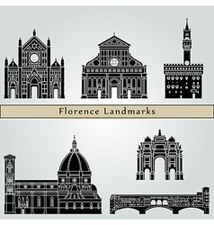 Florence landmarks and monuments vector image