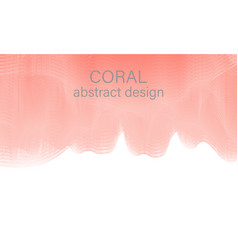 flow shapes design abstract coral color vector image
