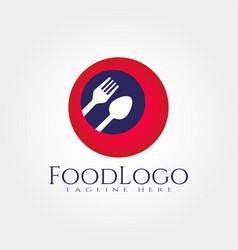 Food logo design element vector