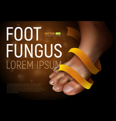 foot fungus vector image