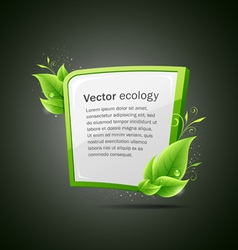 Frame green and white leaf ecology vector