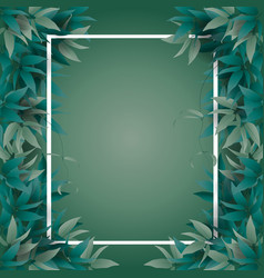 frame with jungle leaves vector image