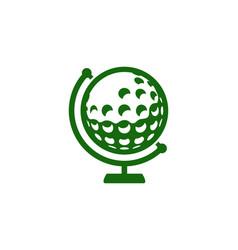 globe golf logo icon design vector image