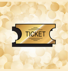 gold ticket icon vector image