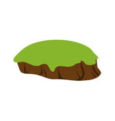 Green field icon vector