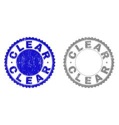 Grunge clear textured stamp seals vector