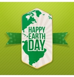 Happy Earth Day realistic Holiday Banner Template vector