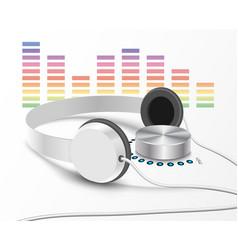 Headsphones and volume controler 2 vector