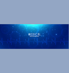 Healthcare and medical science blue banner design vector